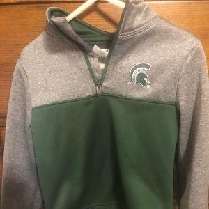Other - Michigan State Spartans 3/4 zip sweatshirt